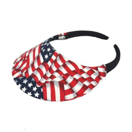No Headache USA Flag Midsize Visor