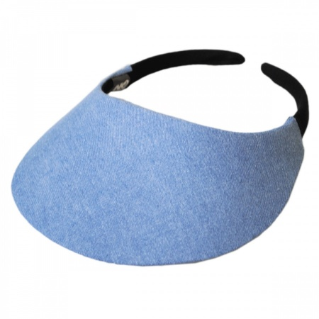 No Headache Denim Midsize Visor