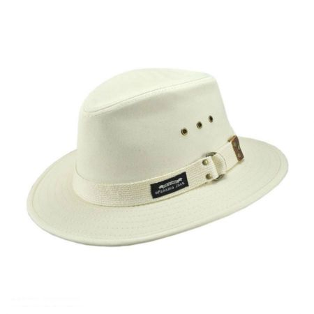 Panama Jack Cotton Canvas Safari Fedora Hat