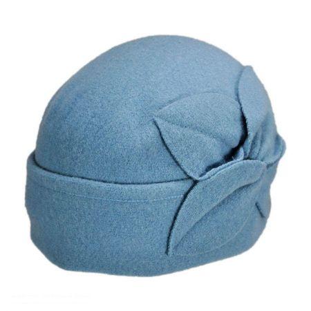 Twist Flower Pull On Beanie Hat