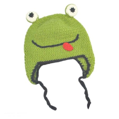 Peruvian Trading Company Baby Frog Beanie Hat - Infant