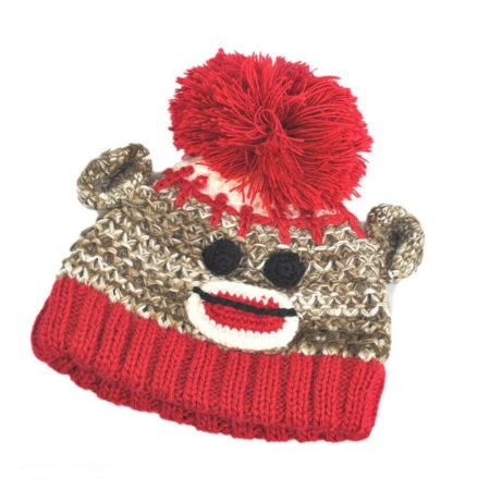 Baby Monkey Beanie Hat - Infant