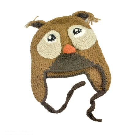 Peruvian Trading Company Baby Owl Beanie Hat - Infant