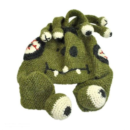 Peruvian Trading Company Eyes Crochet Knit Beanie Hat