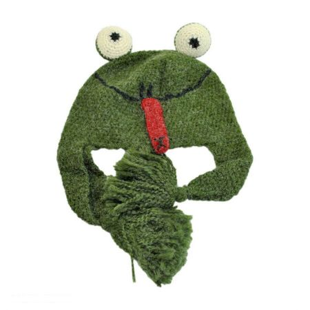 Peruvian Trading Company Frog Crochet Knit Beanie Hat