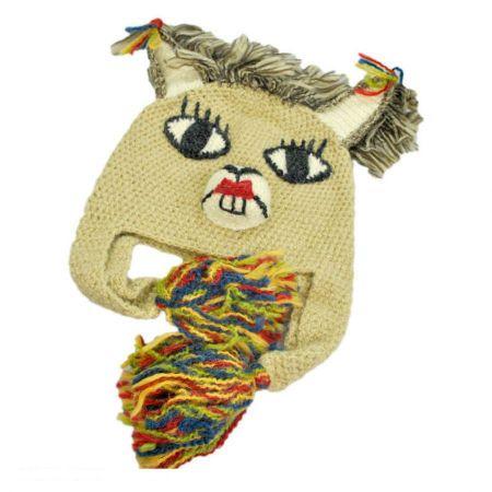 Peruvian Trading Company Girl Llama Beanie Hat