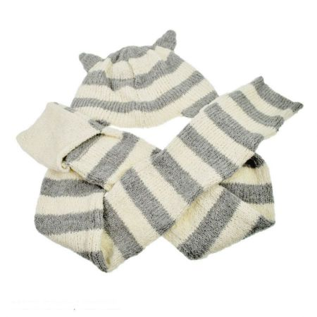 Peruvian Trading Company Kitty Ear Beanie Hat and Scarf