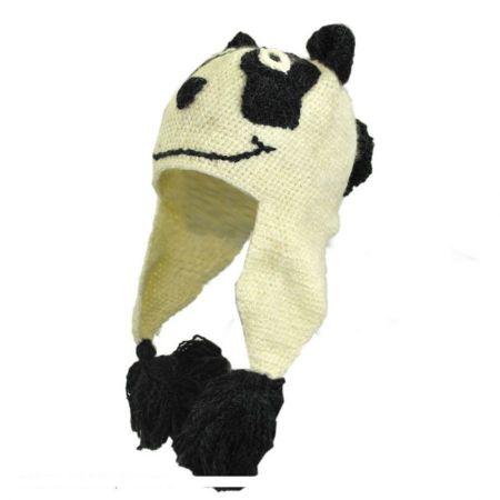 Peruvian Trading Company Panda Crochet Knit Beanie Hat