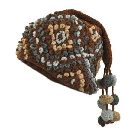 Popcorn Crochet Knit Beanie Hat