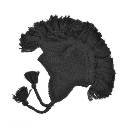 Tassel Solid Rib Knit Earflap Beanie Hat