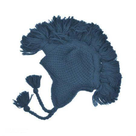 Peruvian Trading Company Tassel Solid Rib Knit Earflap Beanie Hat