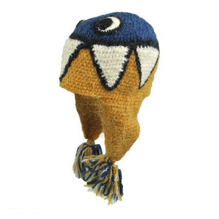 Peruvian Trading Company Teeth Crochet Knit Beanie Hat