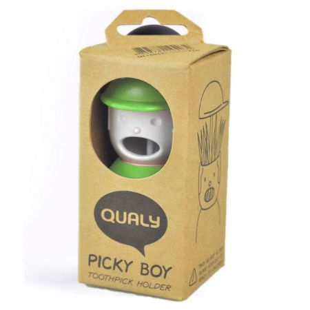 Qualy Picky Boy Toothpick Holder