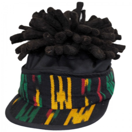 Rasta Imposta Visor with Dreadlocks