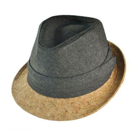 San Diego Hat Co. Cork Brim Fedora Hat