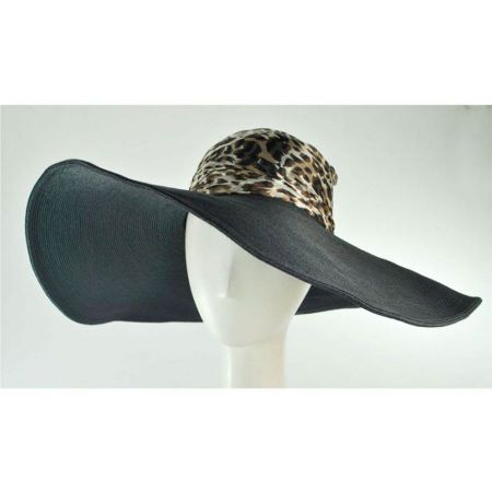 San Diego Hat Company Leopard Silk Crown Swinger Hat