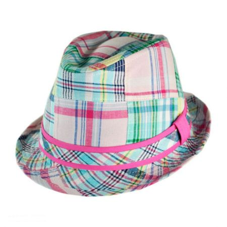 San Diego Hat Co. Madras Fedora Hat - Kids