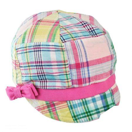 San Diego Hat Company Madras Schoolboy Cap - Kids