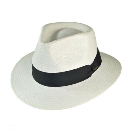 Scala C-Crown Toyo Straw Fedora Hat