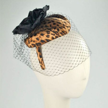Scala Leopard Pillbox Headband