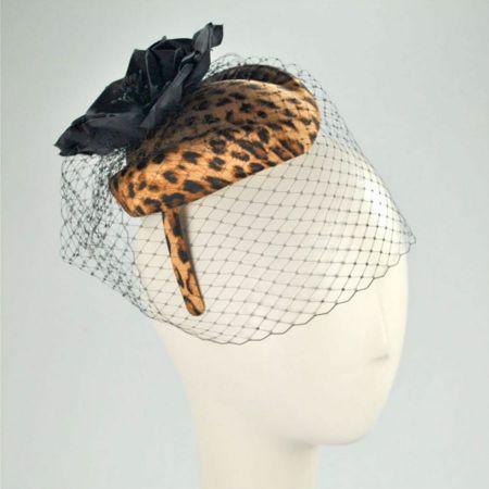 Scala Leopard Pillbox Headband