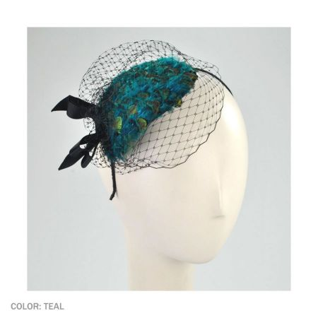 Scala Peacock Fascinator Headband