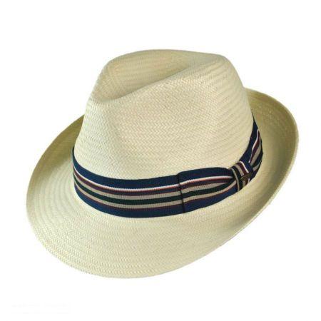 Scala Solana Straw Fedora Hat
