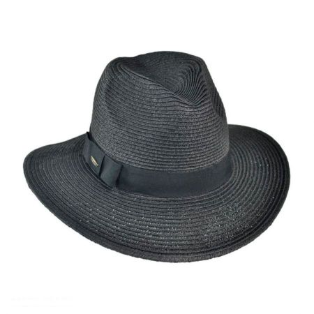 Toyo Straw Braid Fedora Hat alternate view 5