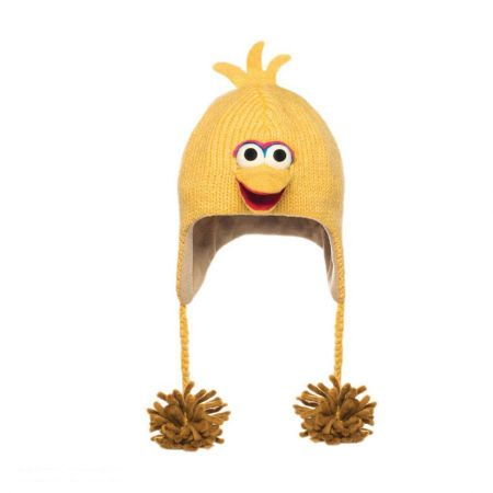 Sesame Street Big Bird Peruvian Beanie Hat