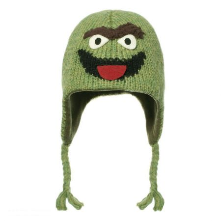 Oscar the Grouch Peruvian Beanie Hat