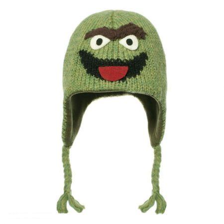 Sesame Street Oscar the Grouch Peruvian Beanie Hat