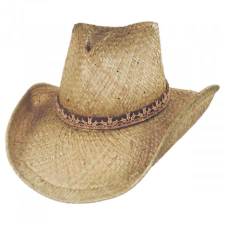 Cosmo Raffia Straw Western Hat