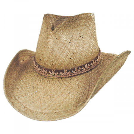 Shady Brady Cosmo Raffia Straw Western Hat