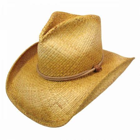 Shady Brady Stampede Raffia Straw Western Hat