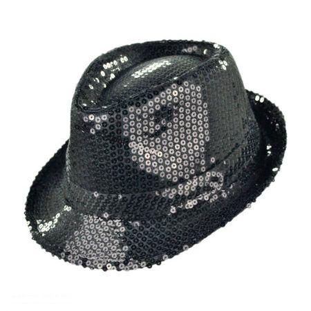Sequin Fabric Fedora Hat