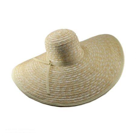 Striped Wide Brim Floppy Straw Hat