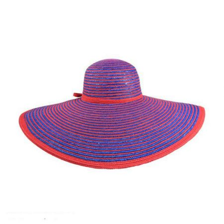 Something Special Striped Wide Brim Floppy Straw Hat