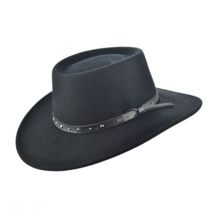 Black Hawk Crushable Wool Felt Gambler Cowboy Hat alternate view 5