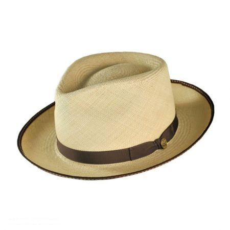 Stetson Brewster Panama Straw Fedora Hat