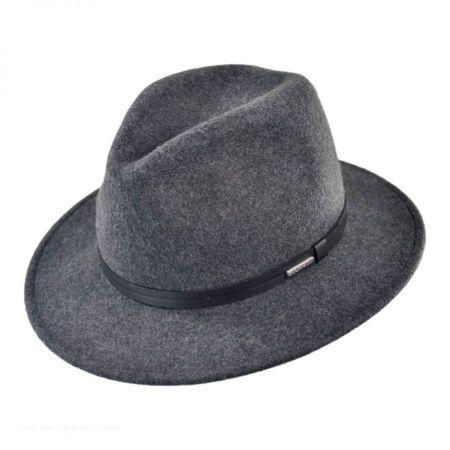 Stetson Explorer Crushable Wool Felt Fedora Hat