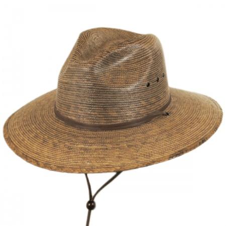 Rustic Palm Leaf Straw Hat