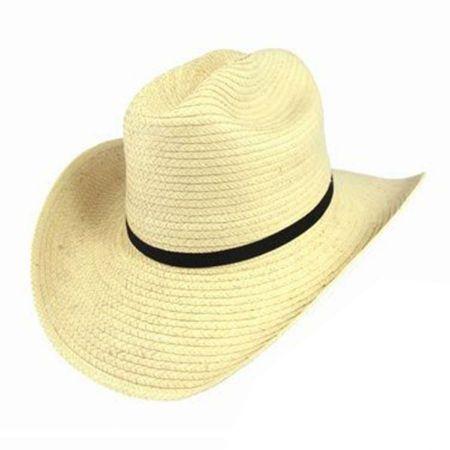 SunBody Hats Kid's Cattleman Guatemalan Palm Leaf Straw Hat