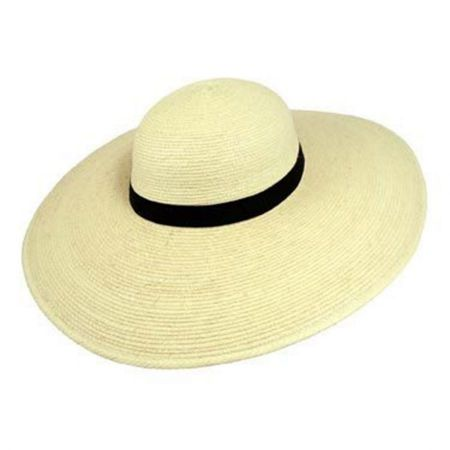 Swinger 5-inch Wide Brim Guatemalan Palm Leaf Straw Hat