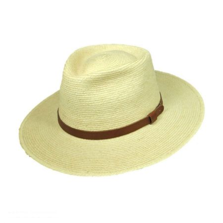 Tear Drop Guatemalan Palm Leaf Straw Fedora Hat alternate view 9