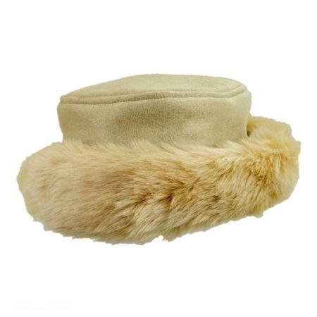 sur la tete Alpine Princess Faux Suede and Fur Hat