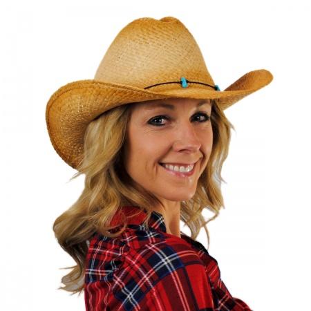 sur la tete Calamity Straw Cattleman Western Hat