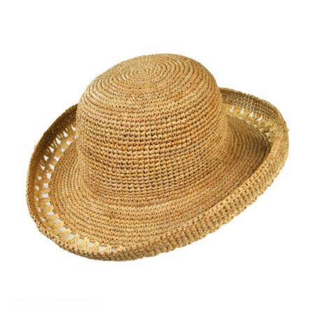 sur la tete Crochet Raffia Sun Hat