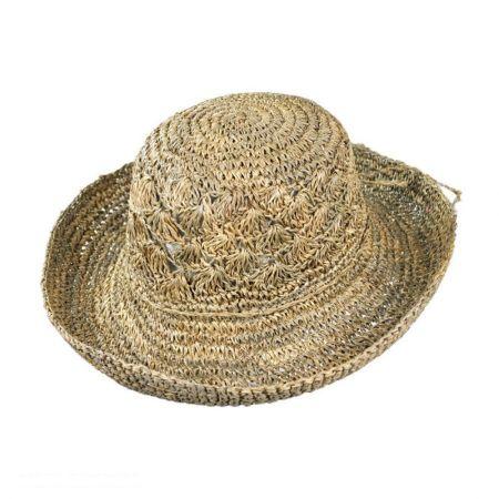 sur la tete Crochet Seagrass Boater Hat