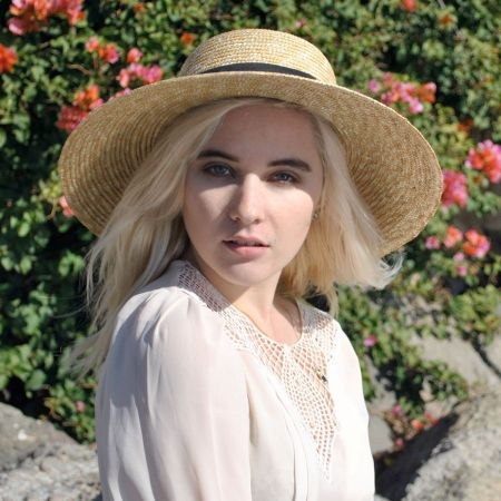 Milan Straw Boater Sun Hat alternate view 1