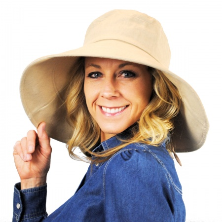 1f3bcf9aa734ef Tropical Trends Pier Cotton and Linen Sun Hat Sun Hats